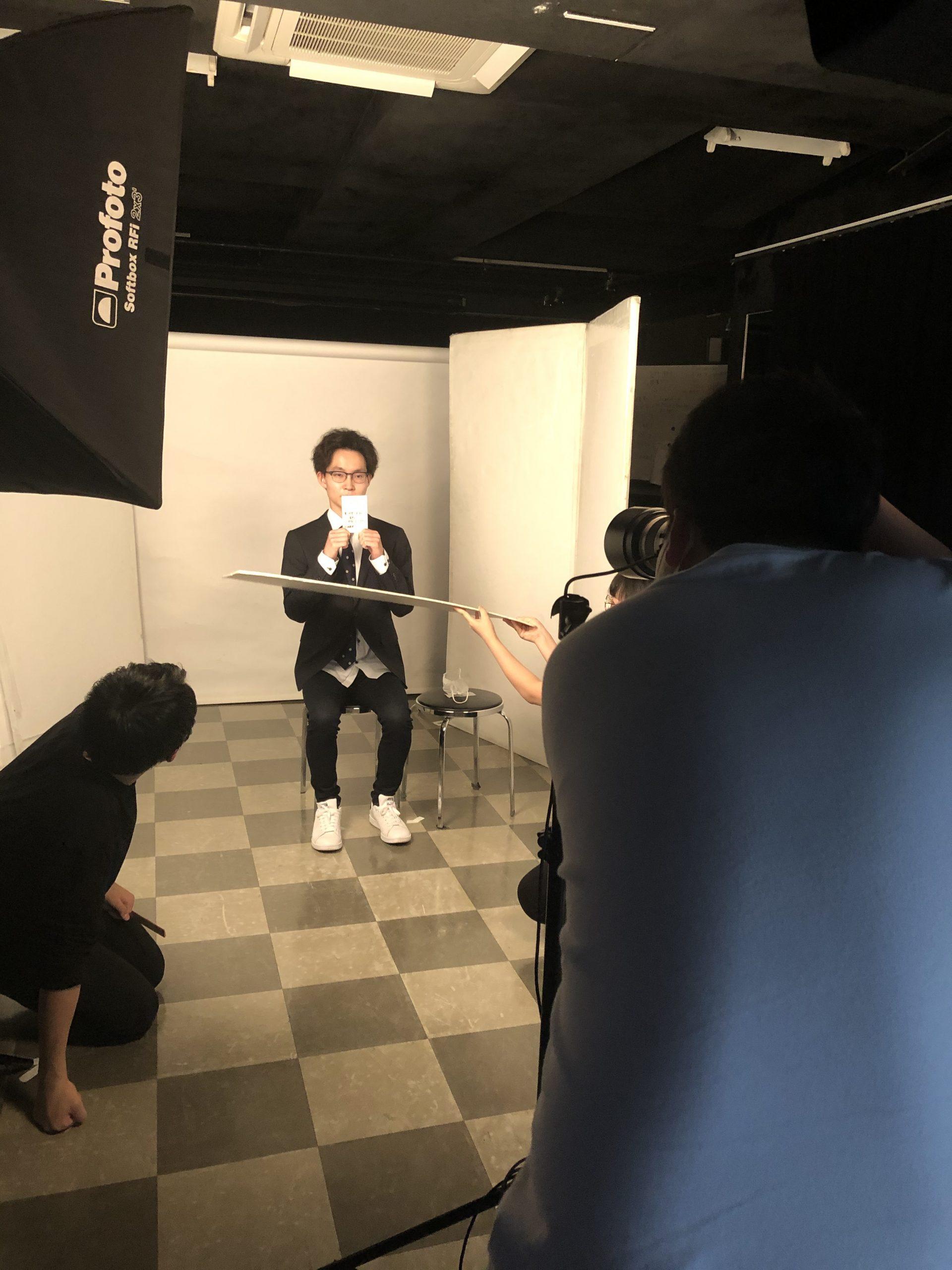 履歴書用写真撮影